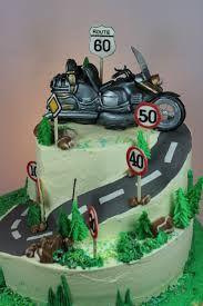 Cake Decorating Supplies Chesterfield 2 Tier Birthday Cake With Goldwing Bike Topper 2 Stöckige