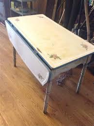 metal top kitchen table the best vintage us shabby chic porcelain enamel top kitchen table
