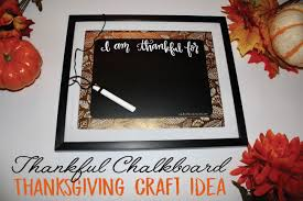 thankful chalkboard frame thanksgiving craft idea club chica