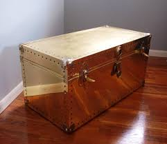 brass trunk coffee table reserved brass clad trunk trunk coffee tables brass metal and