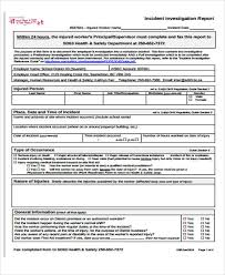 Incident Investigation Report Template by 47 Incident Report Exles