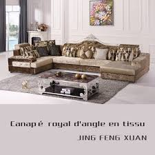 canapé royal canapé angle royal d or en tissu salon meubles maison le meilleur