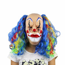 Scary Clown Halloween Costumes Men 2017 1 Piece Halloween Mask Scary Clown Mask Masque Payday Party