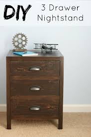 Build A Desk With Drawers Ana White Diy 3 Drawer Nightstand Diy Projects