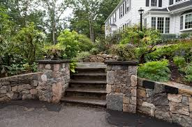 Retaining Wall Stairs Design And Stairs In Garden And Landscape Design