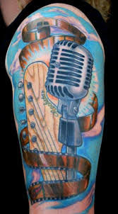 realistic microphone tattoo by divinity tattoo