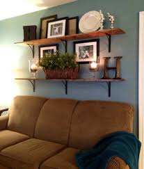 Wall Decor Above Couch by Shelves Above Sofa Home Living Room Pinterest Shelves