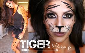 tiger makeup tutorial halloween 2014 youtube