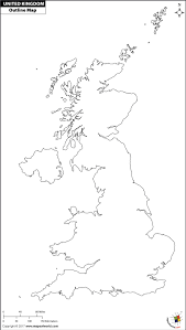 Blank World Map Of Continents by Blank Map Of Uk Outline Map Of Uk