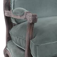 Green Velvet Armchair The Well Appointed House Luxuries For The Home The Well