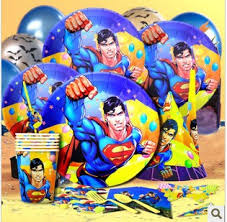 Superman Birthday Party Decoration Ideas Superman Party Birthday Party Ideas