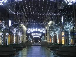 400 led outdoor christmas lights washington harbour s illuminated overhead canopy of white led lights