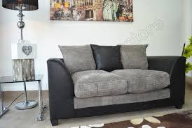 BLACK  GREY FABRIC   Seater Sofa JUMBO CORD Sofa Suite - Dylan sofa
