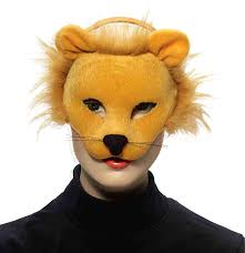 lion mask forum novelties deluxe plush lion animal half mask
