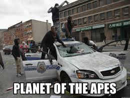 Planet Of The Apes Meme - planet of the apes baltimore rioter car meme generator