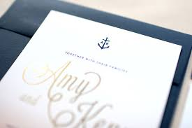 nautical wedding invitations kenn s ombre and gold foil nautical wedding invitations