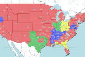 Map Cincinnati Jaguars Vs Bengals Week 9 Tv Viewing Map On Cbs Big Cat Country