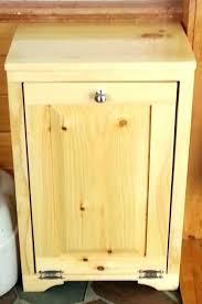 kitchen trash can storage cabinet wooden garbage can storage how to build a wooden trash can holder