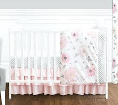 Target Nursery Bedding Sets Blush Pink Grey And White Watercolor Floral Baby Crib Bedding