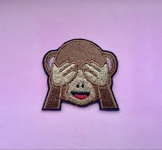 Monkey Sconces Monkey Emoji Patch Iron On Patches Applique Embroidered Patches