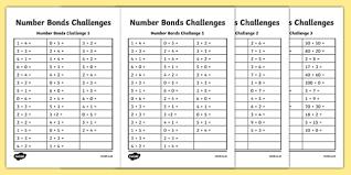 bond challenge activity sheet worksheet