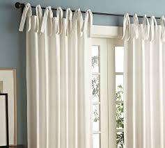 Cotton Drapes White Tie Top 52 U0027 U0027 Cotton Curtains Drapes от Thenewhome1