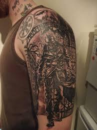 47 attractive music shoulder tattoos