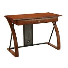 Oak Desk Furniture Ospdesigns Aurora Medium Oak Desk Ar2544r The Home Depot