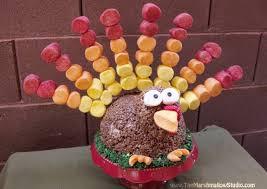 thanksgiving marshmallow turkey