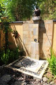 attractive outdoor shower designs design by using small faucet and