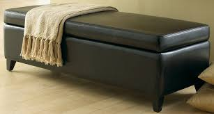 Leather Ottoman Bench Bench Design Astonishing Leather Ottoman Bench Leather Ottoman