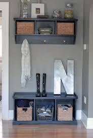 Coat Storage Ideas Mahogany Entryway Coat Rack 5 Metal Hooks White Laminate Finish