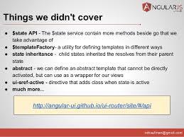 angular js routing options