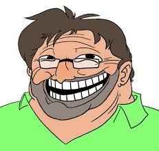 Troll Face Know Your Meme - gaben beard troll face gabe newell know your meme