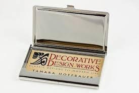 Modern Business Card Case Charles Rennie Mackintosh Rose Floral Business Card Case Gift Box