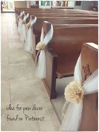 pew decorations for weddings diy pew decorations pic heavy