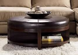 Leather And Wood Coffee Table Top 10 Of Leather Ottoman Coffee Tables