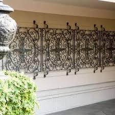 brilliant garden wall decor wrought iron outdoor wrought iron wall