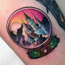 80 castle tattoos for men masculine fortress designs