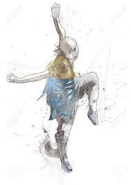 kung fu chinese martial art hand drawing into vector royalty free