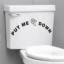 toilet bathroom decal vinyl sticker wall