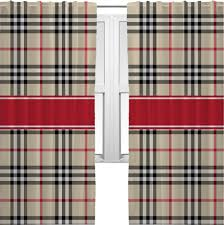 Pink Gingham Shower Curtain Bernard 84 In L Plaid Red Back Tab Curtain Panel At Curtain Style