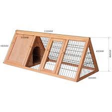 Pet Hutch Rabbit Hutch Open Enclosure Spruce Wood Pet Hutch Open Pen 51064