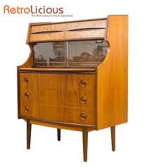 bureau vintage design design teak bureau desk book shelf features retro design to