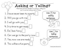 asking and telling sentences with elephant and piggie language
