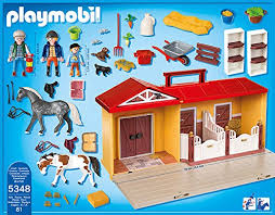 cuisine playmobil 5329 playmobil 5348 country pony farm take along stable amazon co