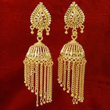 jhumki earring traditional jhumka chandelier gold plated bridal jhumki earrings