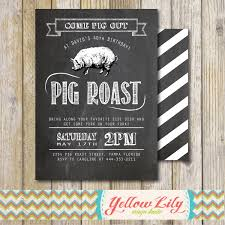 pig roast party invitation birthday house warming couples