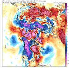 Jet Stream Forecast Map Siberian Air Will Blow To U S As Polar Vortex Breaks Down U0026 Jet
