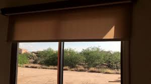 motorized roller shades on patio door youtube